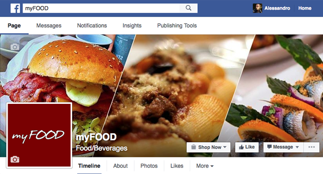 Pagina Facebook myFood