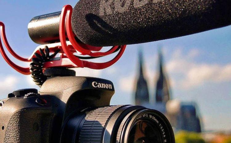 Reflex Canon con microfono Rode